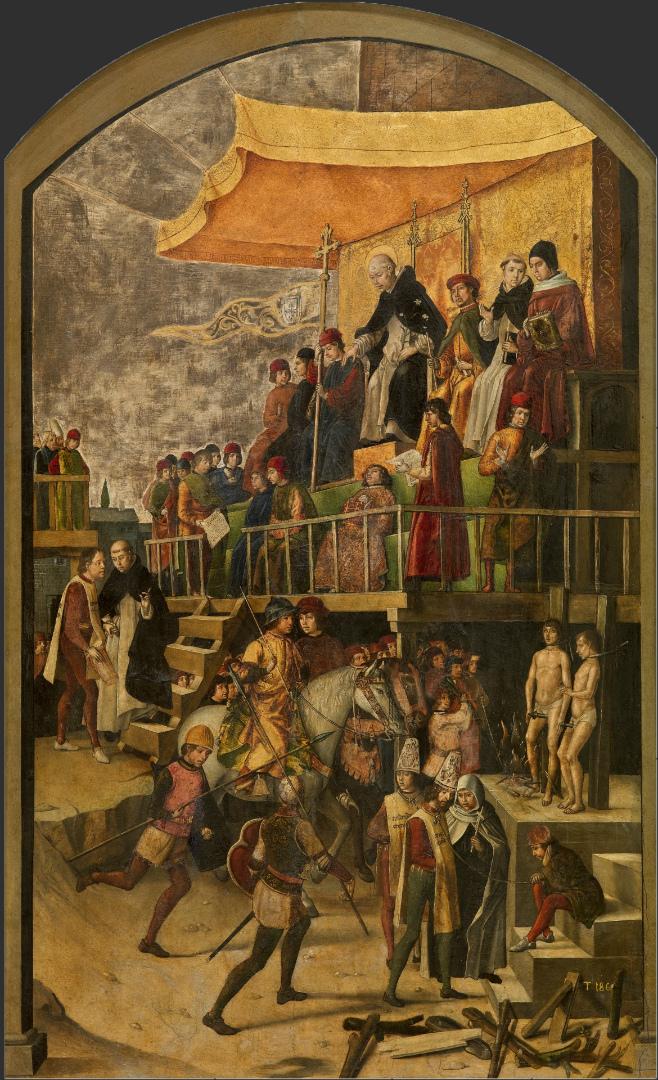 Святой Доминик, председательствующий на аутодафе. Ок. 1495