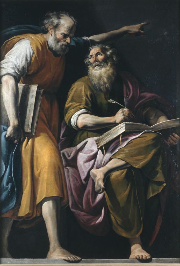 Святой Марк пишет Евангелие под диктовку святого Петра. XVII в.