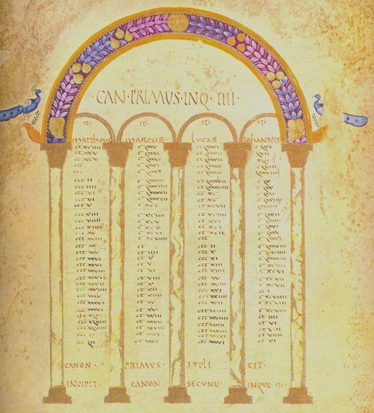 Таблицы канонов Евсевия. V в.