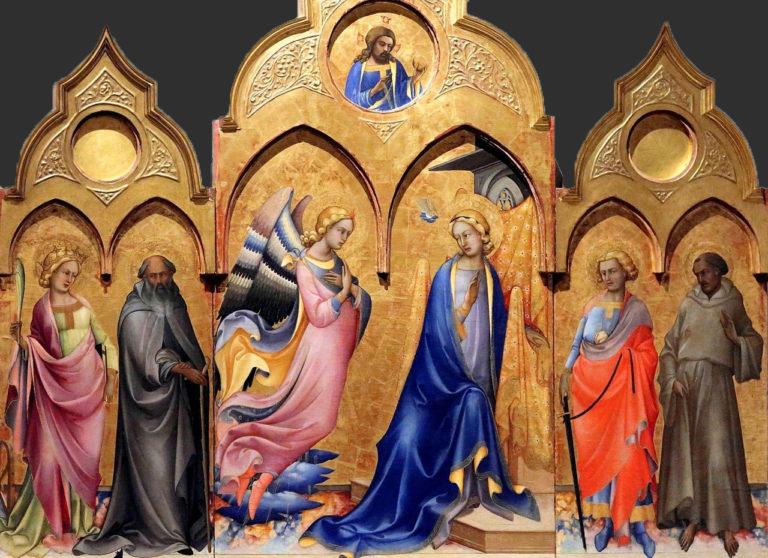 Триптих «Благовещение со святыми». 1409
