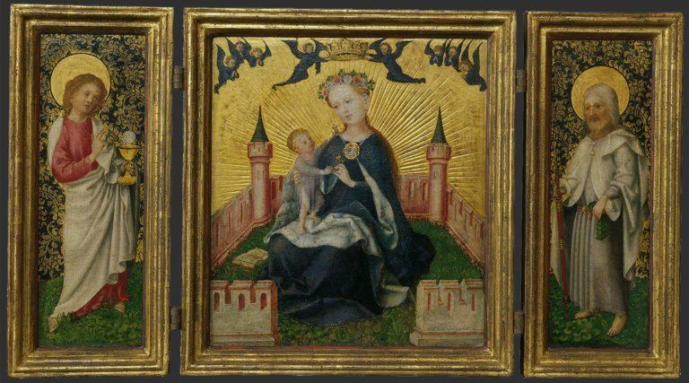 Триптих с Богоматерью в Райском саду. 1445–1450