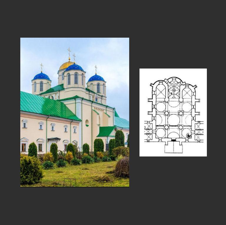 Троицкая церковь. Вид с юго-запада и план. 1520-е
