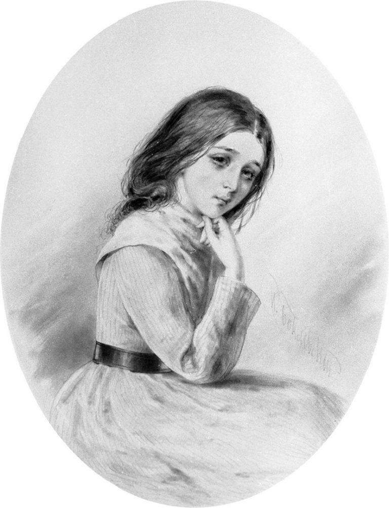 Варвара Доброселова. Иллюстрация к роману «Бедные люди». 1840-е