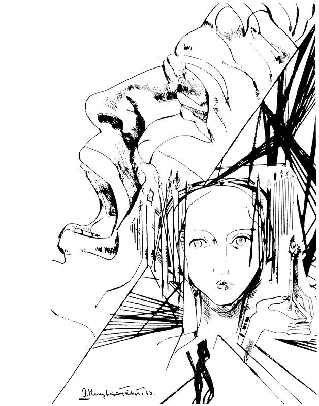 Вера – отчаянье. Иллюстрация к роману Ф. М. Достоевского «Преступление и наказание». 1969