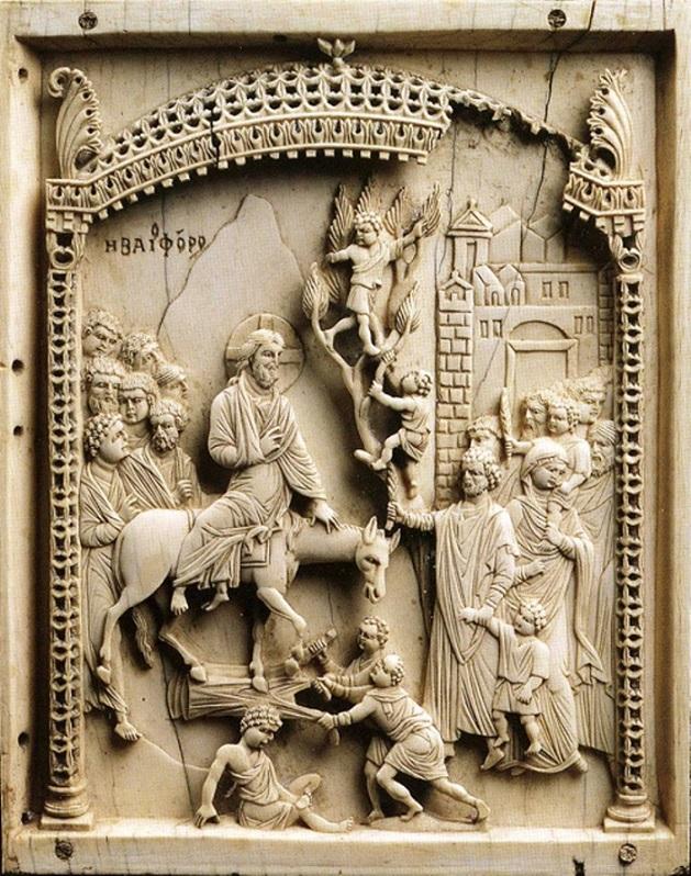 Вход Господень в Иерусалим. Византия, X в.