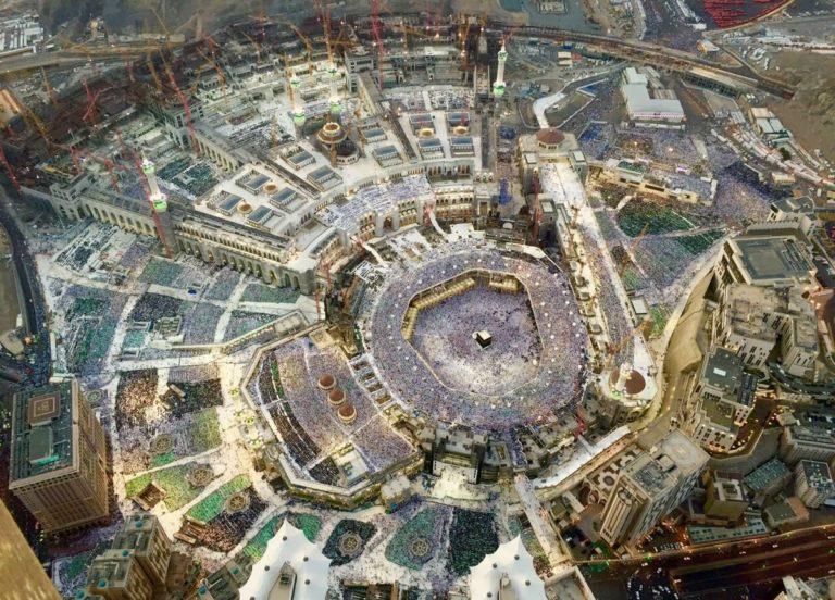 Вид на Заповедную мечеть с высоты птичьего полета, Мекка