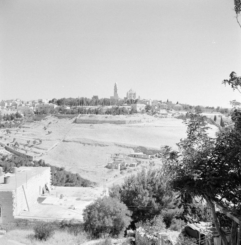 Вид на гору Сион, Иерусалим. Фото 1964 г.