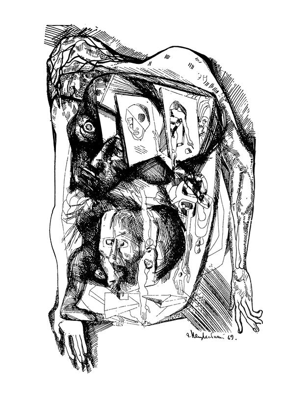 Внутренний мир Свидригайлова. Иллюстрация к роману Ф. М. Достоевского «Преступление и наказание». 1969