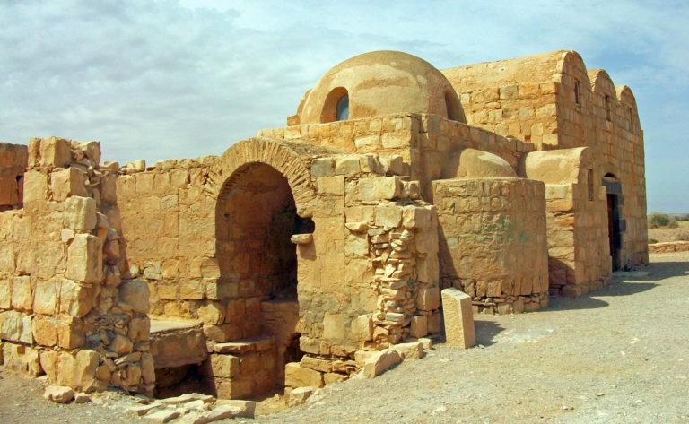 Восточный фасад и часть южного фасада Кусайр-Амра, Иордания