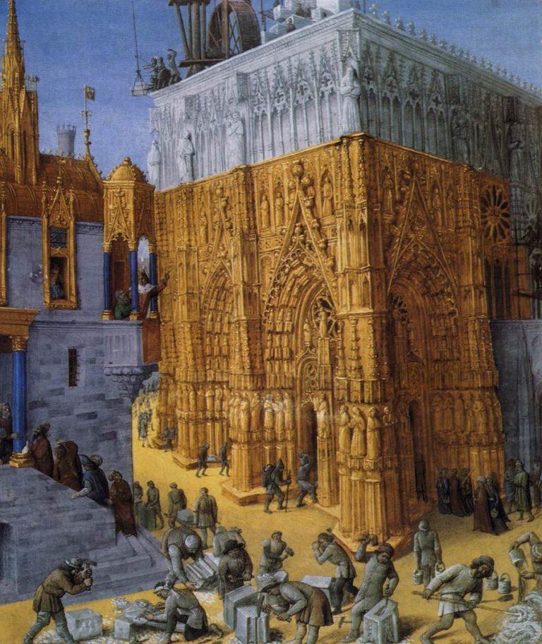 Возведение Иерусалимского Храма. Ок. 1465