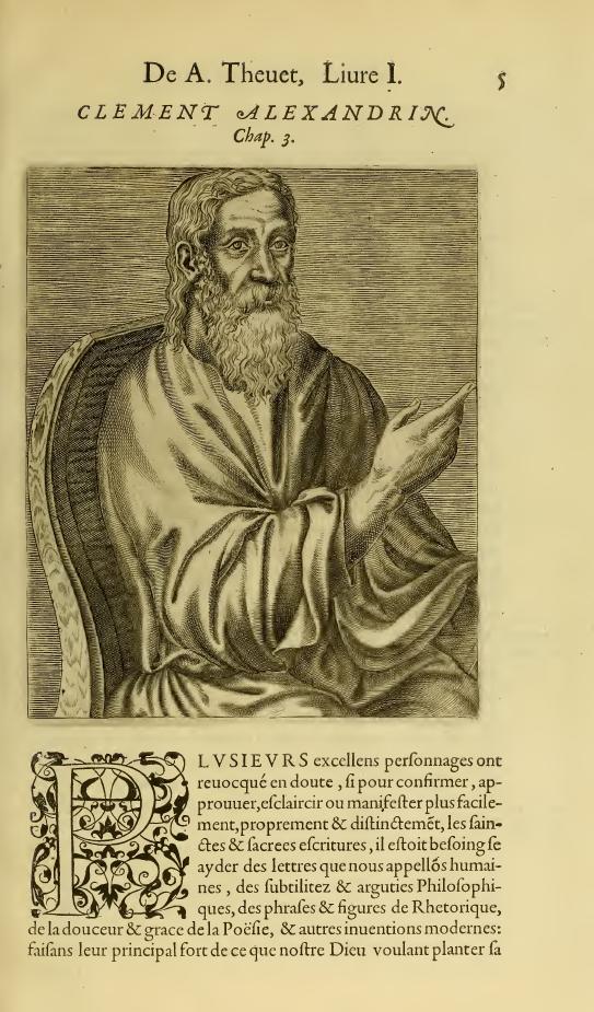 Вымышленный портрет Климента Александрийского
