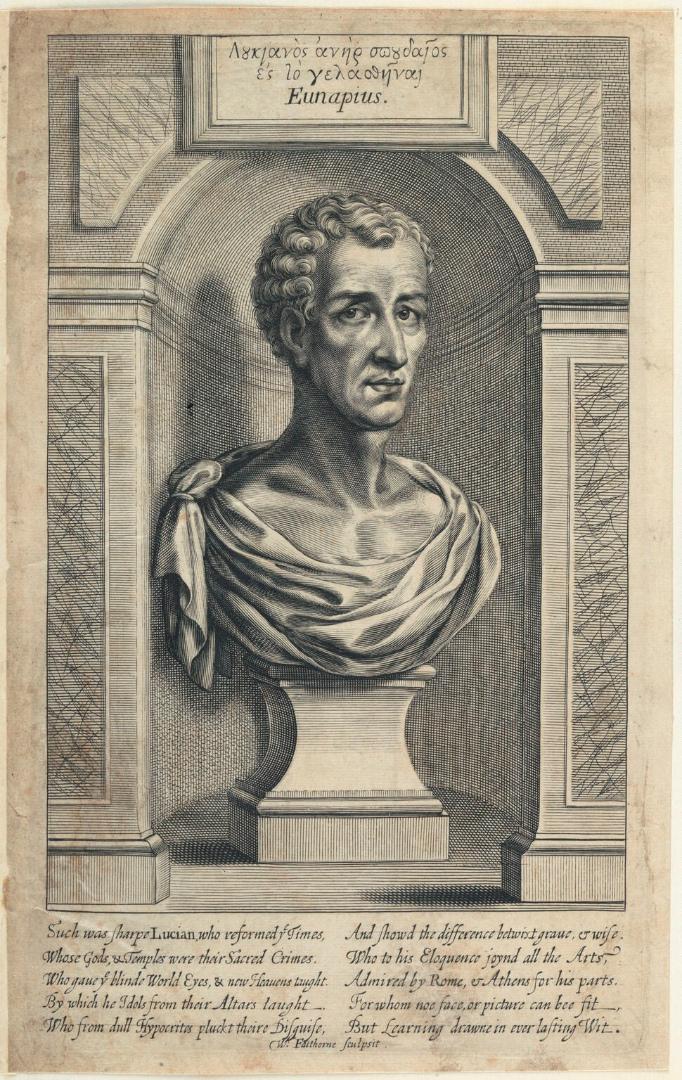 Вымышленный портрет Лукиана Самосатского. XVII в.