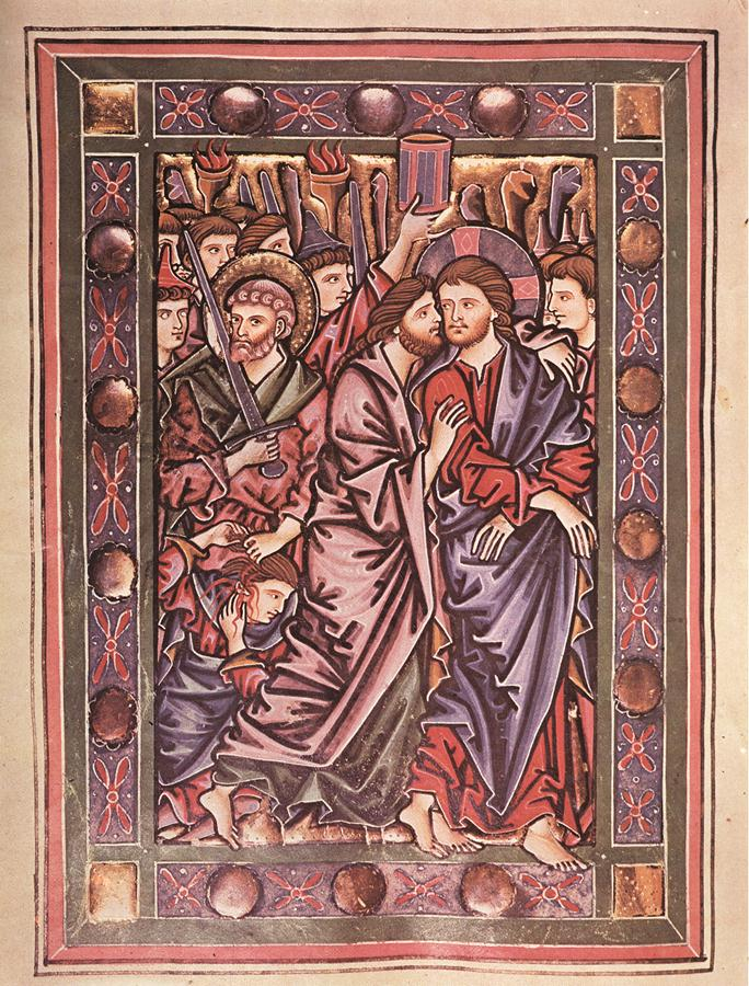 Взятие Христа под стражу. Германия, XIII в.