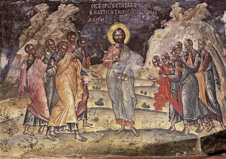 Явление воскресшего Христа апостолам. Греция, XVI в.