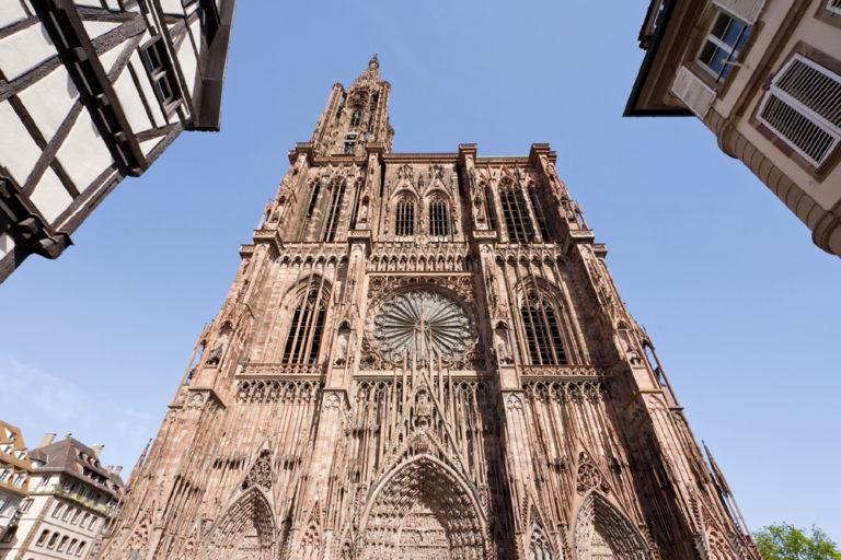 Западный фасад Страсбургского собора. 1176–1439