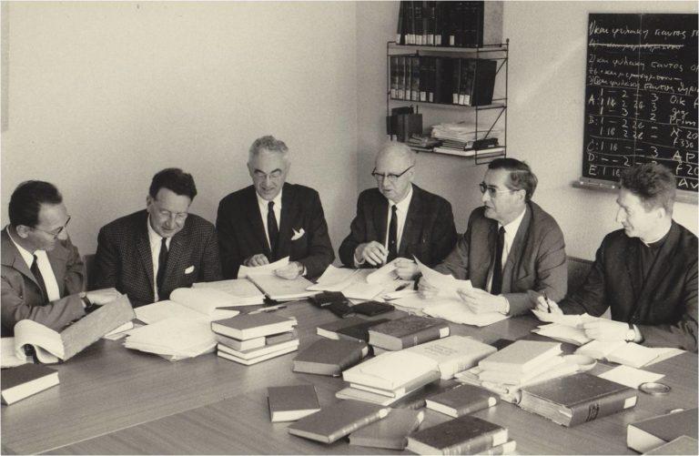 Заседание комитета Объединенных Библейских обществ. Ок. 1980