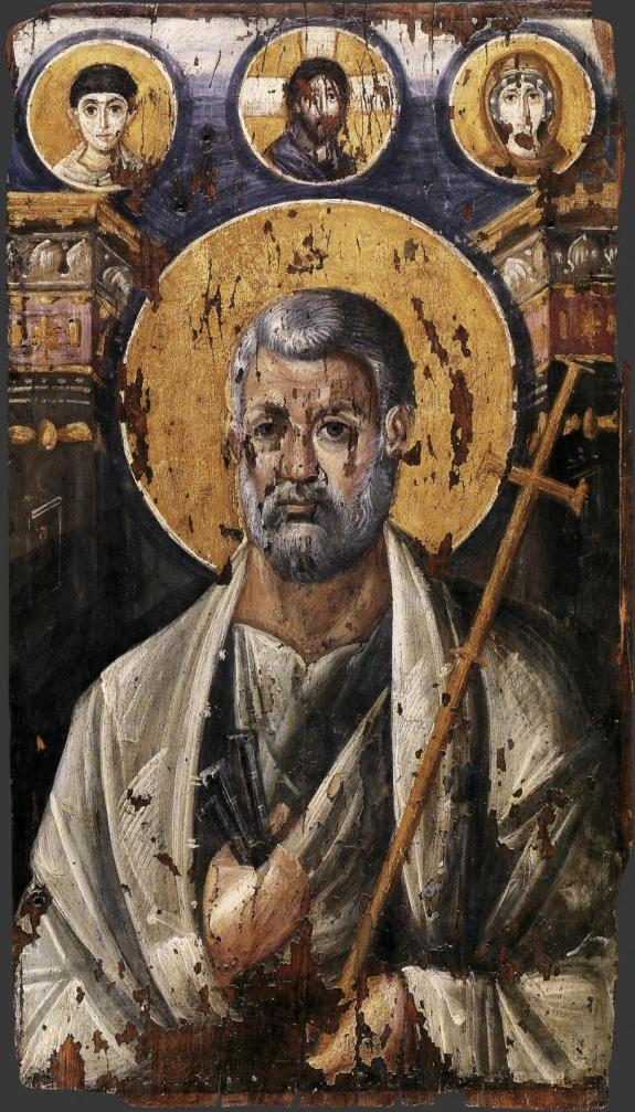 Апостол Петр. Энкаустическая икона, VI в.
