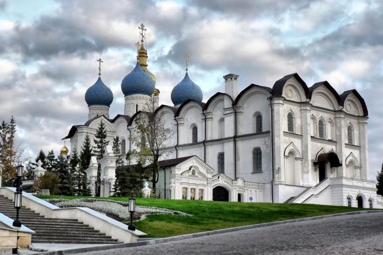 Благовещенский собор Казанского кремля. Вид с северо-запада. 1556-1562