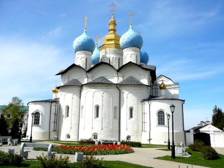Благовещенский собор Казанского кремля. Вид с востока. 1556-1562