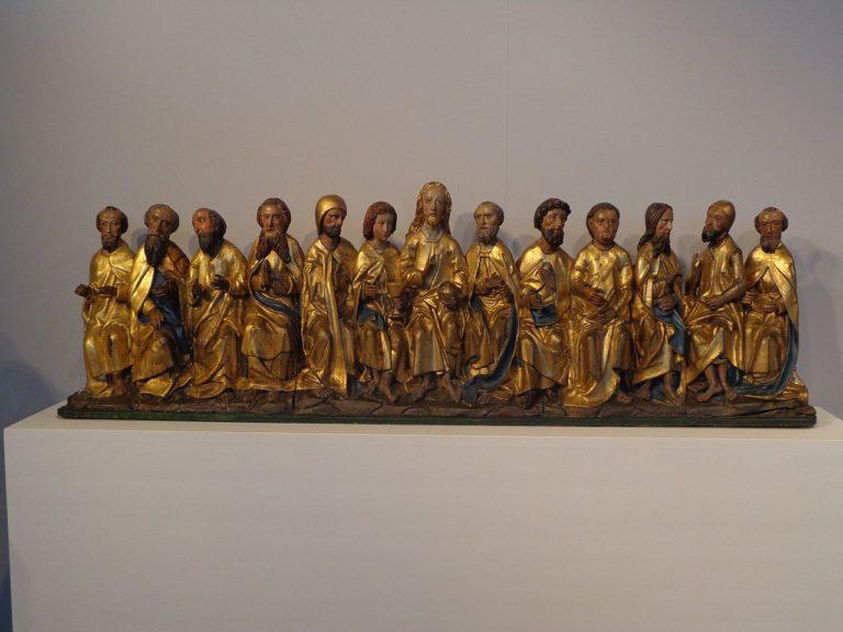Иисус Христос и двенадцать апостолов. XV в.