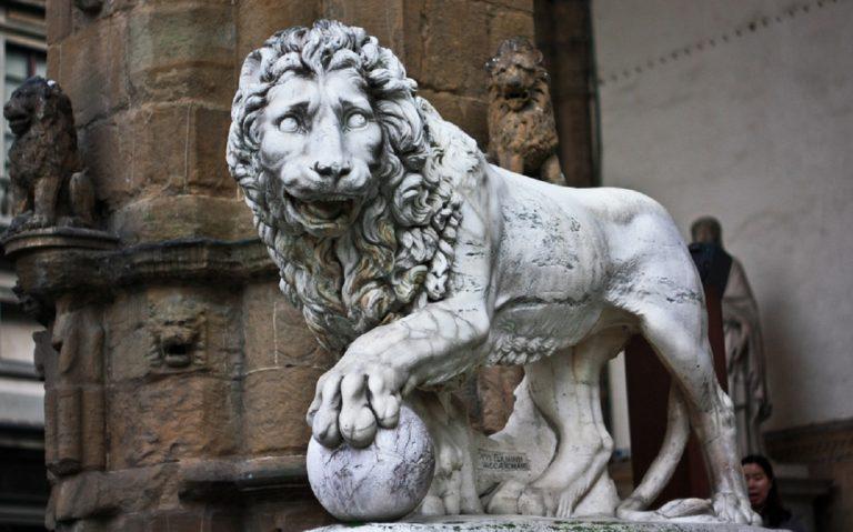 Лев, заказанный Фердинандо I Медичи. 1594