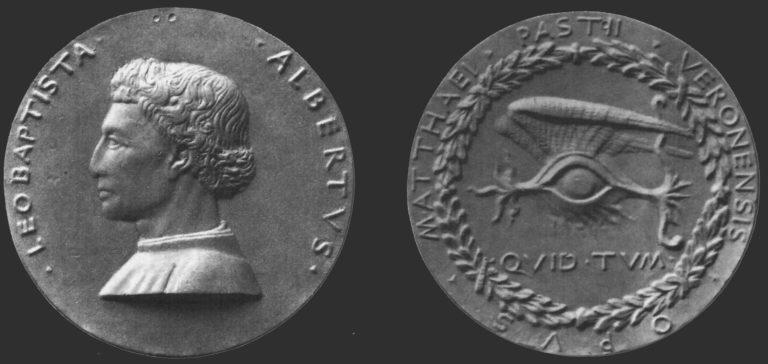 Медаль с изображением Леона Баттисты Альберти. 1446–1450