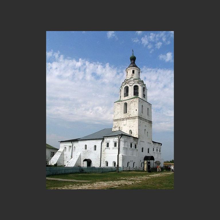 Никольская трапезная церковь-колокольня. Вид с северо-запада. 1555-1556