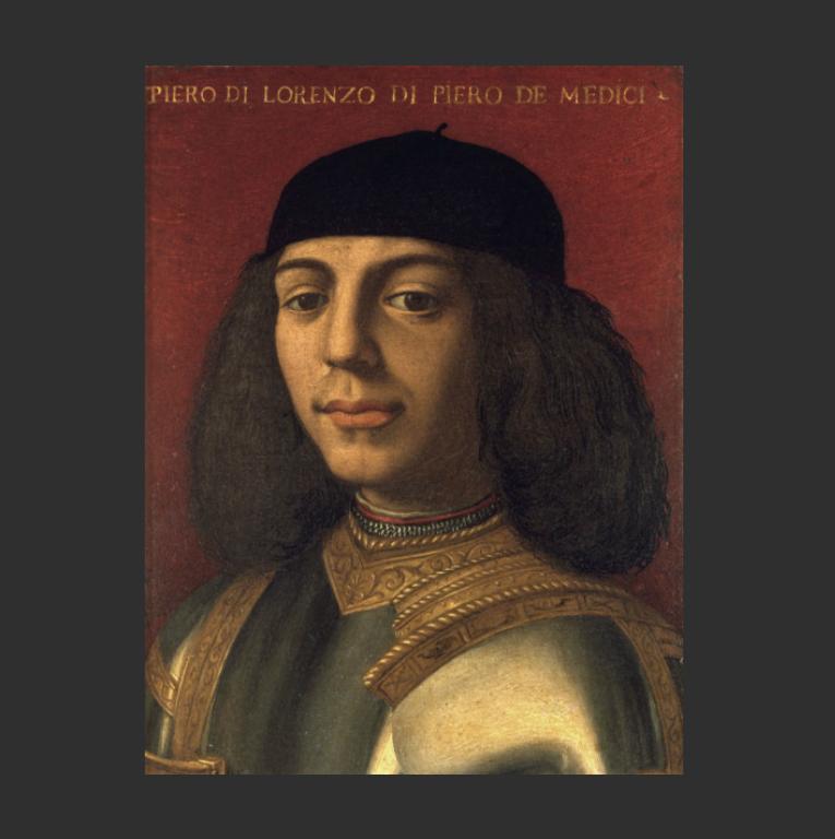 Портрет Пьеро II ди Лоренцо