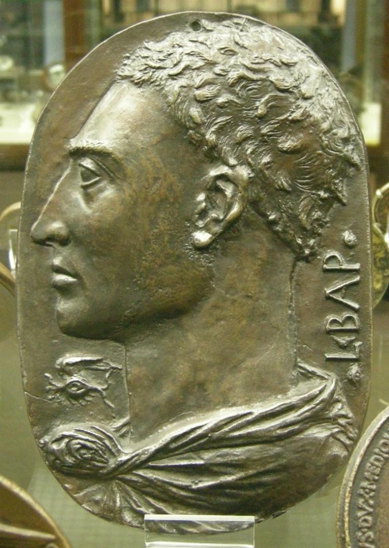 Предполагаемый автопортрет Леона Баттисты Альберти (итал. Leon Battista Alberti, 1404–1472). 1435