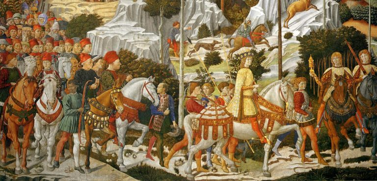 Шествие волхвов. Фрагмент фрески. 1459–1460