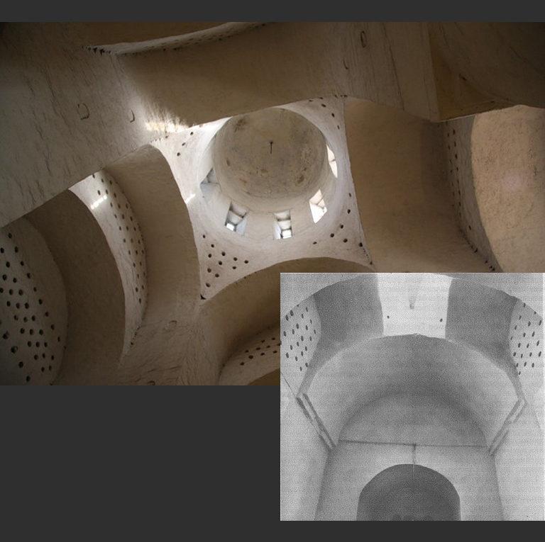Церковь Николы со Усохи. Интерьер, своды. 1534–1535