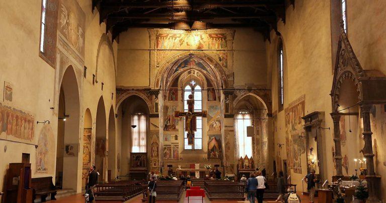 Интерьер церкви Сан Франческо, Ареццо