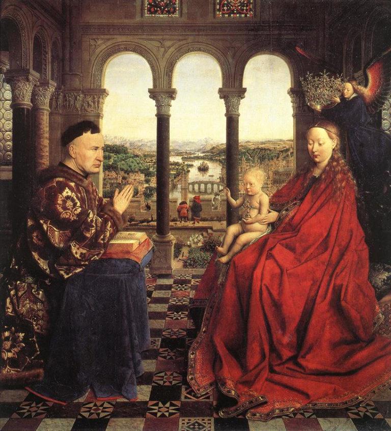 Мадонна канцлера Ролена. 1435