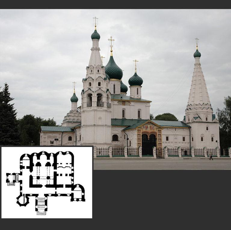 Церковь Ильи Пророка и ее план. 1647—1650