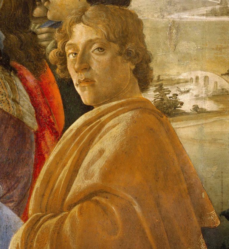 Автопортрет. Фрагмент картины «Поклонение волхвов». Ок. 1475