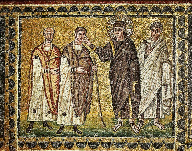 Христос исцеляет двух слепцов. IV в.