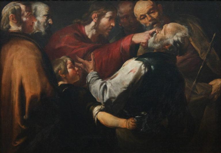Христос исцеляет слепого. Ок. 1640