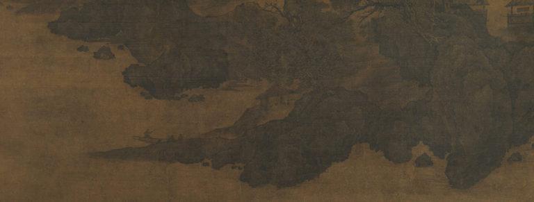 Пейзаж в стиле Фань Куаня. Фрагмент с путешественником. Нач. XII в.
