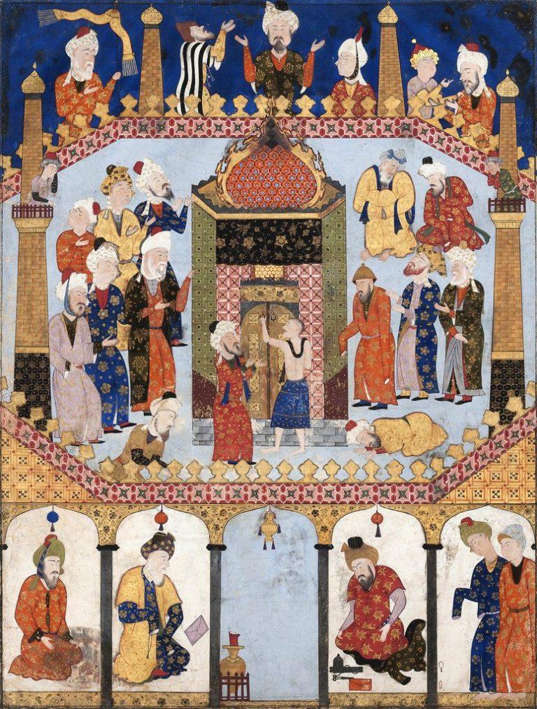 Сцена у Каабы в Мекке. Ок. 1550-1560