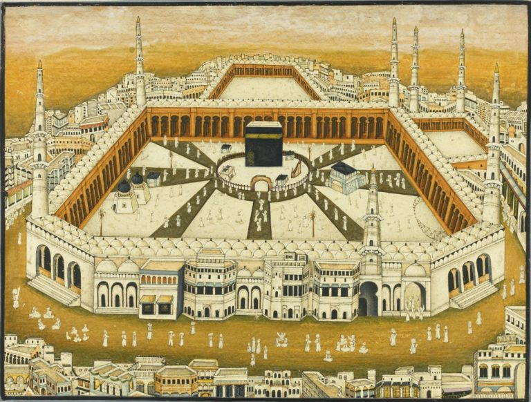 Вид на Заповедную мечеть. Индия, XIX в.