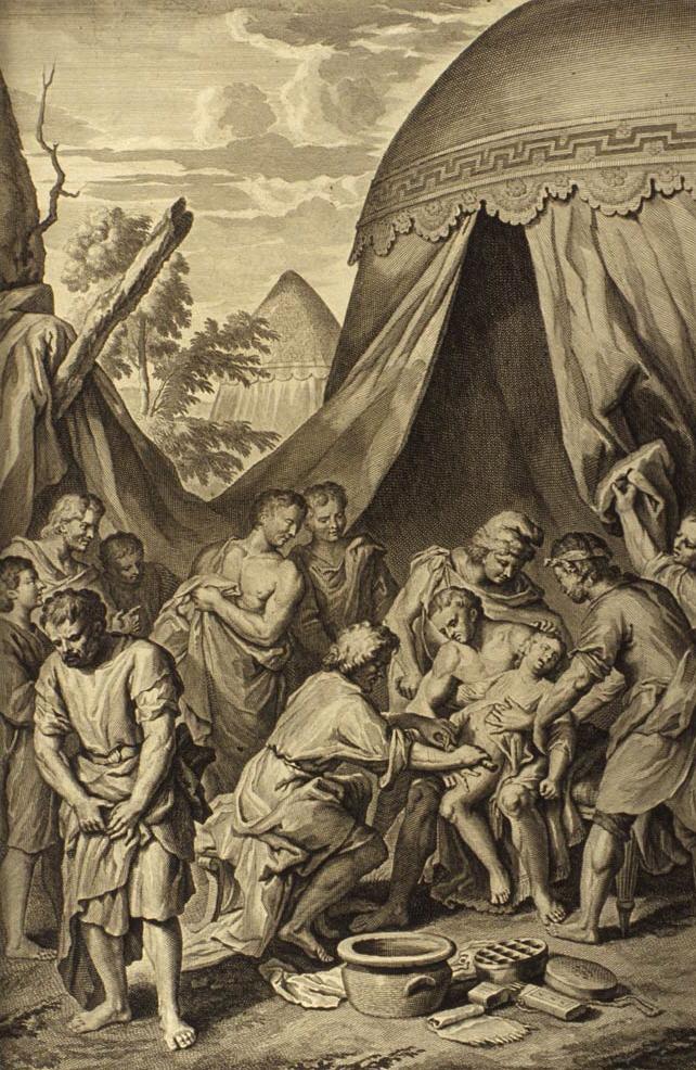 Авраам делает обрезание Измаилу и всем рождённым в его доме. 1728