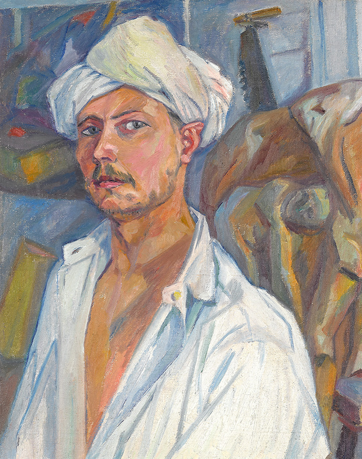 Автопортрет в тюрбане. 1909