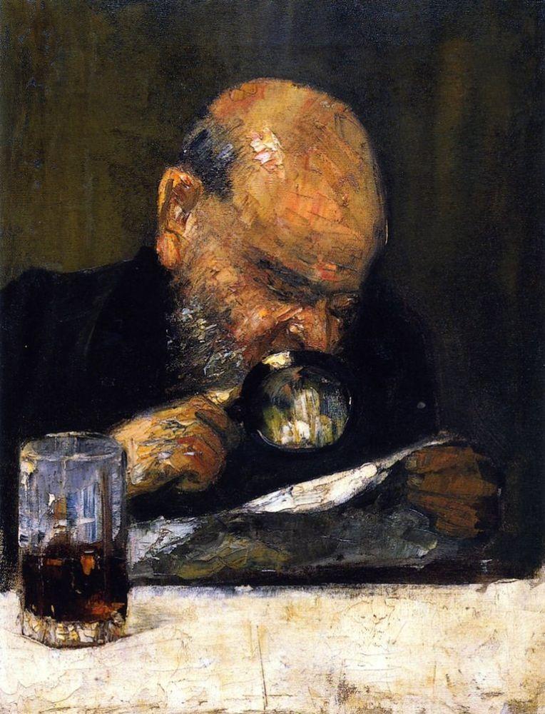 Читатель с увеличительным стеклом. 1895