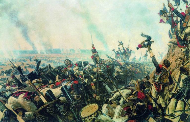 Конец Бородинского боя. 1900