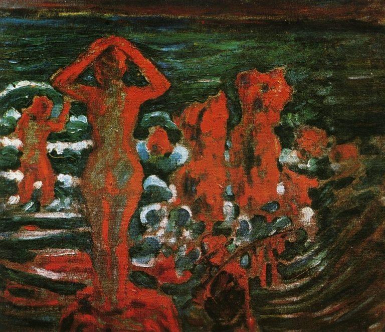 Купальщицы на закате. 1908