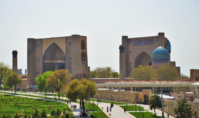 Мечеть Биби-Ханым. Два портала. 1399-1404