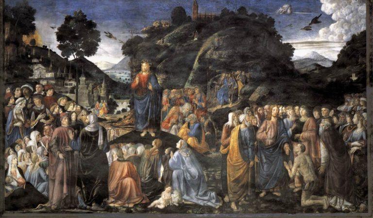 Нагорная проповедь и исцеление прокажённого. 1480–1482