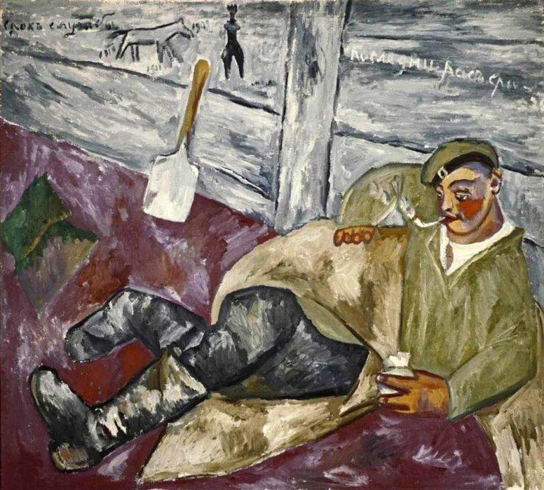 Отдыхающий солдат. 1911