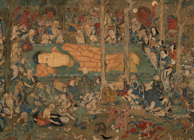 Паринирвана Будды. Фрагмент. Япония, XІV в.