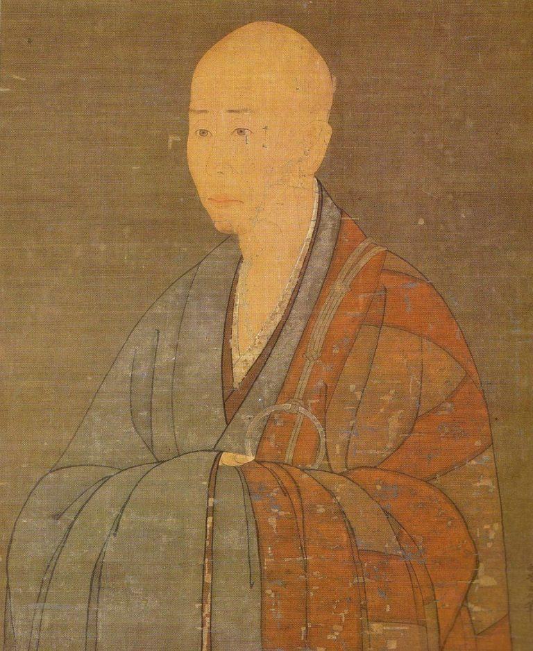 Полуфигурный портрет Мусо Сосэки. Фрагмент. Ок. 1349–1350